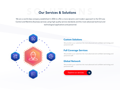 Services and Solutions - Sneak Peek color ux ui web design design illustration