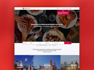 Resérvate App app landing page website design software design digital ui ux
