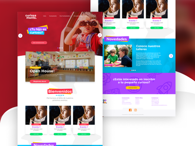 Lets get Curious! app landing page website design software design digital ui ux