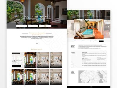 Rentals UI Design website flat landing clean web design app ui design web uxdesign ux ui