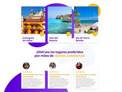 Exploring Cards color website web uiux minimal layout landing page flat design clean