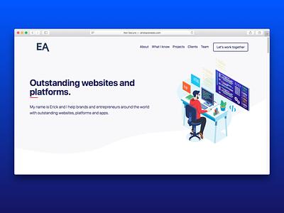 My Hero UI Design illustration flat ui ux clean card hero design website design website landing page app design