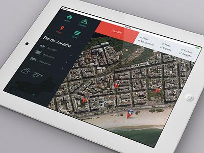 Satellite Map location local design brasil ux ipad ui ios map satellite