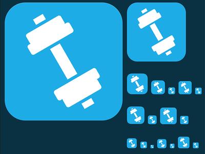 Fitness Training Icon flat ui app ios icon training fitness