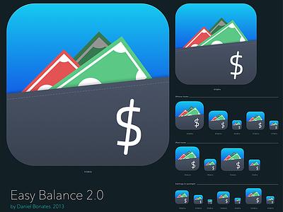 Easy Balance Icon finance money flat iphone app ios ux ui icon balance easy