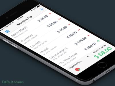 Easy Balance App Screens app money finance table flat iphone ios ux ui balance easy