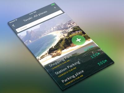 Tavaki App directions localization location parking car iphone ux ui app ios