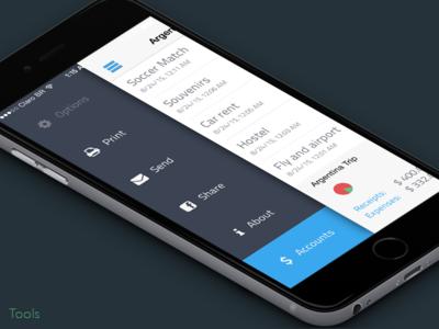 Easy Balance - Tools menu finance easy money balance flat iphone ux app ui ios