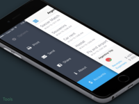 Easy Balance - Tools menu finance easy money balance flat iphone ux app ui ios