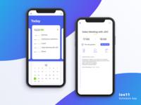 ios11 Schedule App