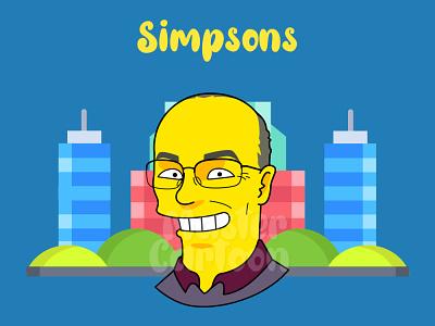 CUSTOM SIMPSON STYLE simpson art illustration 2d cartoon