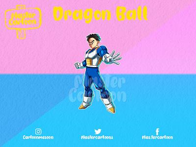 CUSTOM DRAGON BALL 2d logo design illustration dbz cartoon