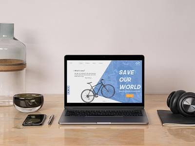 Bikeshop landing page (concept design) branding landing page ux design ui