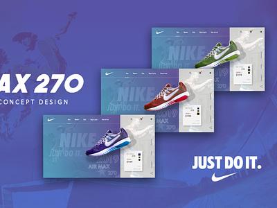 Nike website concept design landing page ux ui