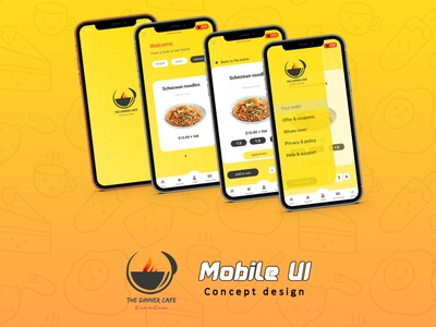 The Dinner Cafe Mobile UI (concept design) branding design ux ui