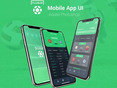 Football Live score Mobile UI branding design ux ui