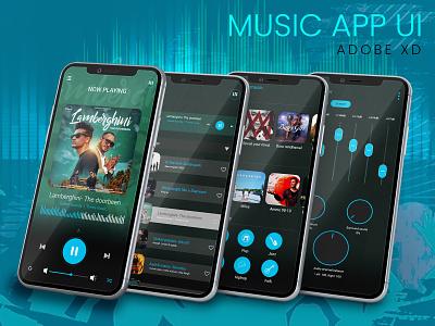 Music app for android UI music player music app design ux ui