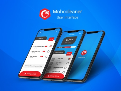 Mobocleaner- Mobile clean app interface uidesign interfacedesign ineterface ux ui