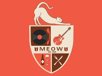 Meow Shield illustration shield