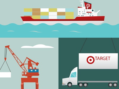 New Motion Graphic target motion graphic infographic illustration