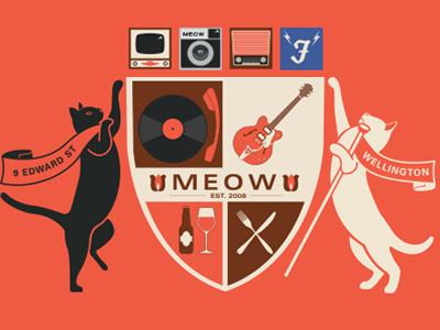 Header for a website illustration cats shield crest