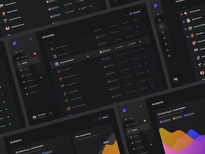 UI exploration dark dark theme settings desktop app admin dashboard platform sidebar card table chart saas design saas layout ui simple design web clean