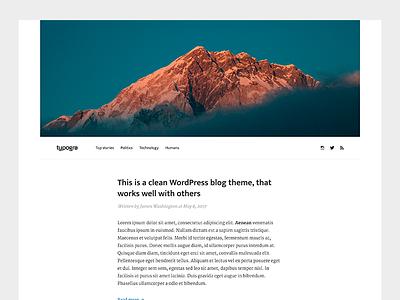 Typogra - Free WordPress blog theme theme free wordpress free wordpress website web typography text simple layout design blog