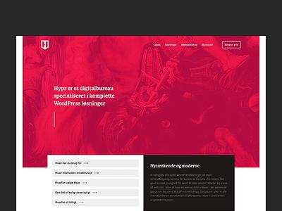Hypr - digital agency v2 references cases news blog footer hero simple portfolio design digital agency clean agency