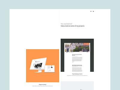 Portfolio website product cases clean simple layout design web portfolio