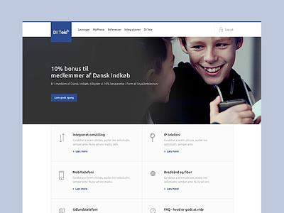 Corporate business layo clean tele business corporate webdesign web