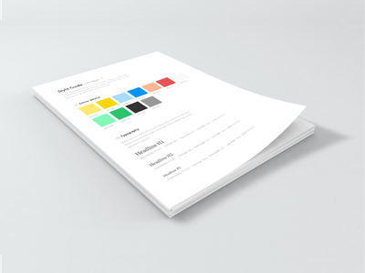 Style guide palette sketch clean fresh print color brand book free style guide styleguide