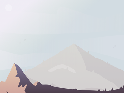 Mountain vector art tone style simple sketch vector mountain landscape image shadow sky sun clouds