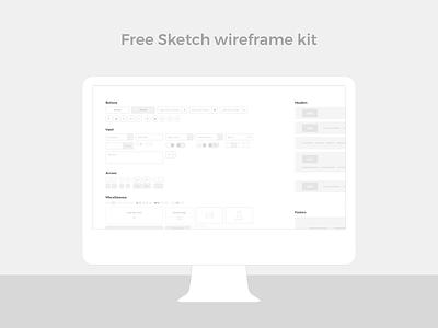Sketch wireframe kit kit system simple clean desktop design ux ui wireframe free sketch