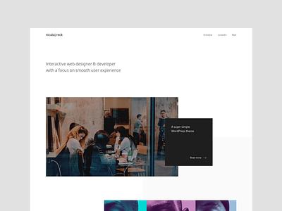 Portfolio frontpage layout landing website minimal cases portfolio web simple clean
