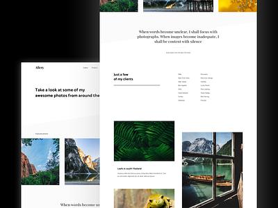 Portfolio WP theme wordpress minimal layout landing website web simple portfolio photo gallery design clean