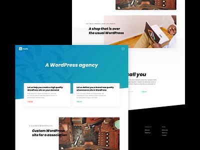 WordPress agency digital minimal simple landing design clean web agency wordpress