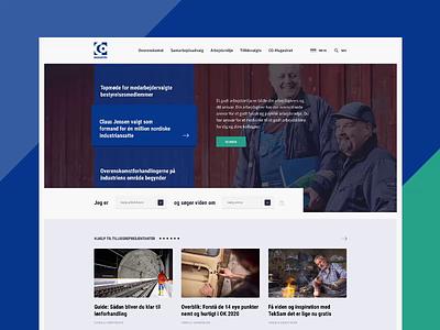 CO-Industri website desktop industrial industry frontpage landing layout ui website design simple web clean