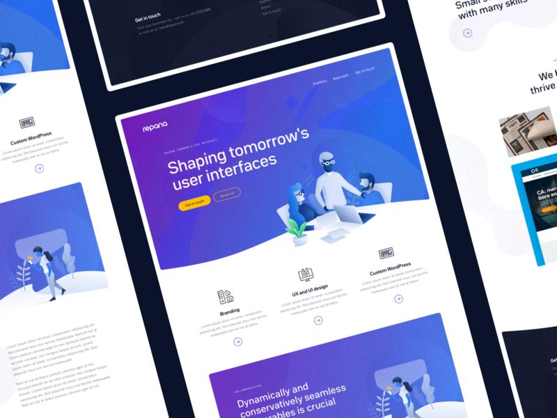 Digital agency modern organic typography branding landing ui website design web simple clean