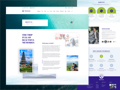 Tourisoon Travel Agency - About Us page simple classic fresh uxdesign uidesign uxui travel blog travel travel agency