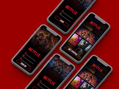 Daily UI :: 001 app ux design ui mobile adobexd iphonex signup netflix uidesign uiux 001 dailyui