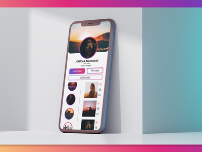Daily :: UI 006 userprofile profile instagram iphonex app ux uiux uidesign design dailyui adobexd