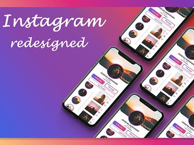Instagram Redesigned instagram adobe iphonex app ux uiux uidesign design dailyui adobexd