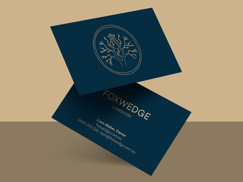 Carpentry logo and business cards
