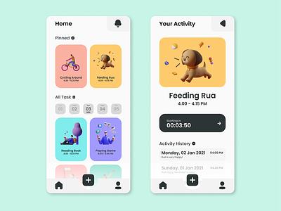 UI Design To Do List App app icon typography ux ui illustration design