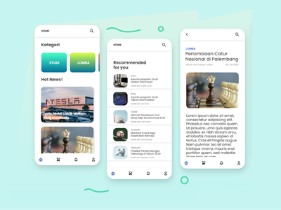 UI Design Blogging and Store App figma design figmadesign figma flat app design minimal ux ui