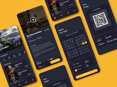 Movie Ticket Booking App ui design ui mobile ux branding design mobile figma flutter ui