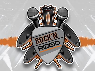 Rock'n Ridgid rock tools ridgid ridgidtools illustration badge logo