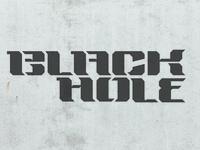 Black Hole Display Typeface