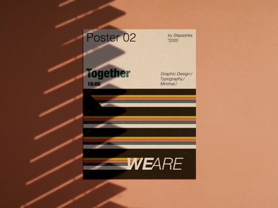 poster 'we are together' vector music graphicdesign poster minimal typography illustration design