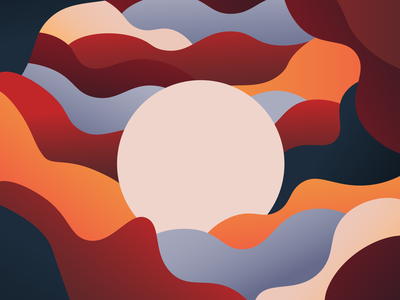 my sun vector illustration design sunset color sun minimal graphicdesign poster